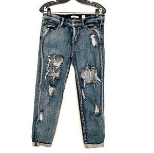 Sneak Peek Black Distressed Boyfriend Jeans